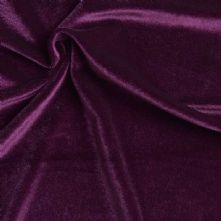 Plum Purple Stretch Spandex Velvet Fabric 145cm Wide